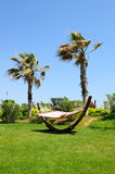 Hammock at lawn in popular hotel Royalty Free Stock Photography