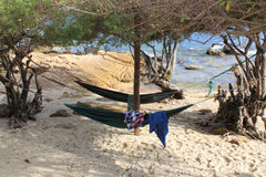 Hammock or lying on the beach in Thailand Royalty Free Stock Photos
