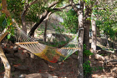 Hammock made of a net. Stock Images