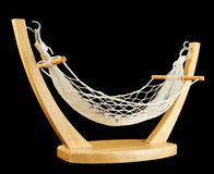 Hammock made of net and wood isolated Stock Images