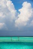 A hammock in the maldivian resort Stock Photo
