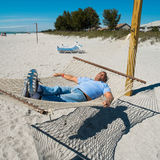 Hammock man Royalty Free Stock Image