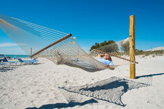 Hammock man Stock Photos