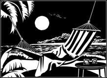 Hammock na praia tropical Imagens de Stock Royalty Free