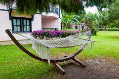Hammock near  house, Turkey Stock Photo