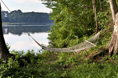 Hammock near water Royalty Free Stock Photography