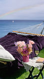 Hammock with ocean view Royalty Free Stock Photo