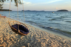Hammock On The Beach Royalty Free Stock Images