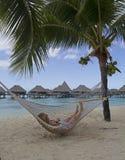 Hammock in paradise Stock Photos