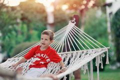 Hammock and people Royalty Free Stock Photography