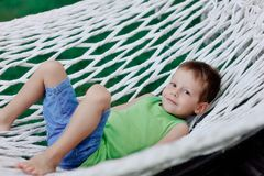 Hammock and people Royalty Free Stock Photos