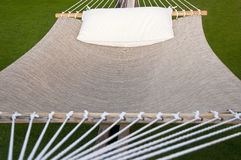 Hammock with Pillow on top Stock Photo