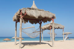 Hammock on a red sea beach Royalty Free Stock Image