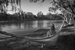 Hammock Relaxing Stock Photo