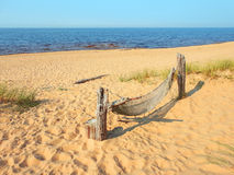 Hammock on a sand hill Royalty Free Stock Photos