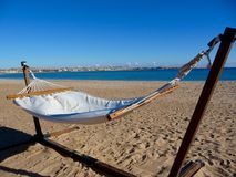 Hammock with sea view Royalty Free Stock Photos