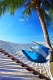 Hammock. Seaside hammock with blue sky Royalty Free Stock Photography