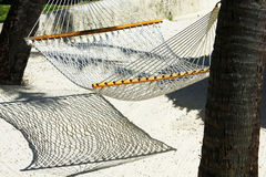 Hammock in shadow of the sand Stock Photography