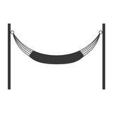 Hammock silhouette icon. Resting and sleep design. Vector graphi Royalty Free Stock Image