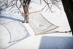Hammock On A Sunny Winter Day Stock Images