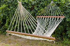 Hammock in the sunny yard Stock Photos