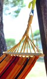 Hammock to relax during summer vacations in the resort Stock Image