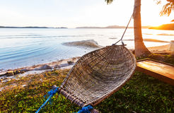 Hammock. In the tropical beach, Palawan, Philippines Stock Photography