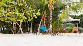 Hammock on tropical beach Stock Photography