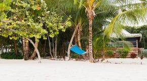 Hammock on tropical beach Stock Photography