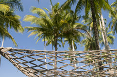 Hammock on tropical island. Royalty Free Stock Photography