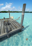 Hammock in tropical jetty Royalty Free Stock Photo