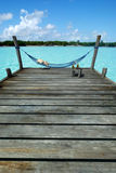 Hammock in tropical pier Stock Photo