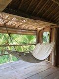 Hammock at tropical villa. In Bali royalty free stock photos