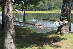 A hammock between two trees Royalty Free Stock Photo
