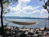 Hammock with the view Royalty Free Stock Image