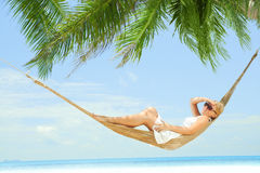 In hammock Stock Image
