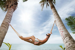 In hammock Stock Photos