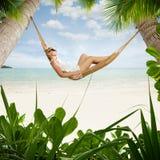 In hammock Royalty Free Stock Image