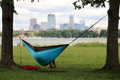 Hammocking в Миннеаполисе Стоковые Фото