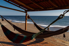 Hammocks in beach Royalty Free Stock Photo