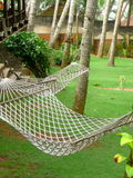 Hammocks in a garden Royalty Free Stock Images
