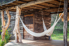 Hammocks. In a kiosk in the countryside farm Royalty Free Stock Images