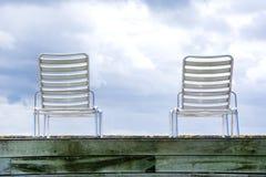 Hammocks with sea views Royalty Free Stock Image