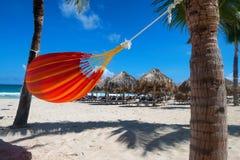 Hammok on the tropical beach Stock Photo