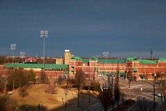 Hammon`s Field, Springfield, Missouri, at sunset. Hammon`s Field in Springfield, Missouri, home of the Springfield Cardinals minor league baseball Stock Images