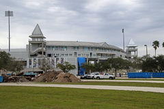 Hammond体育场的整修 库存图片