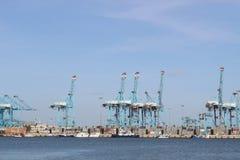 Hamn av Algeciras, Spanien Arkivbild