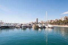 Hamn av Alicante, Spanien Fotografering för Bildbyråer