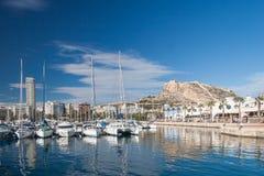Hamn av Alicante, Spanien Royaltyfri Fotografi