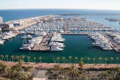 Hamn av Alicante, Spanien Royaltyfri Foto